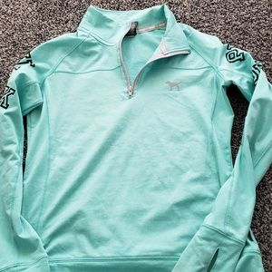 Victorias secret pink quarter half zip